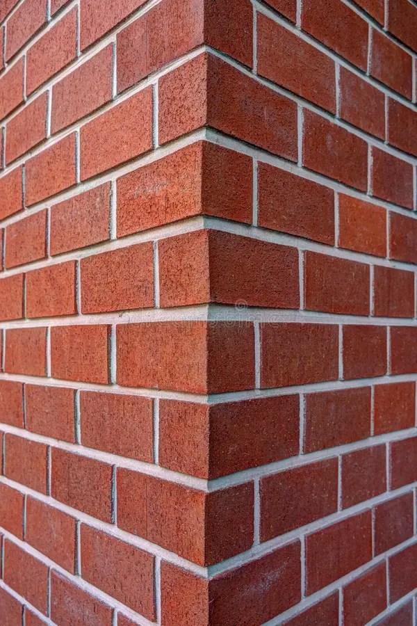 Corner Of Dark Red Brick Wall Stock Image Image 34393021