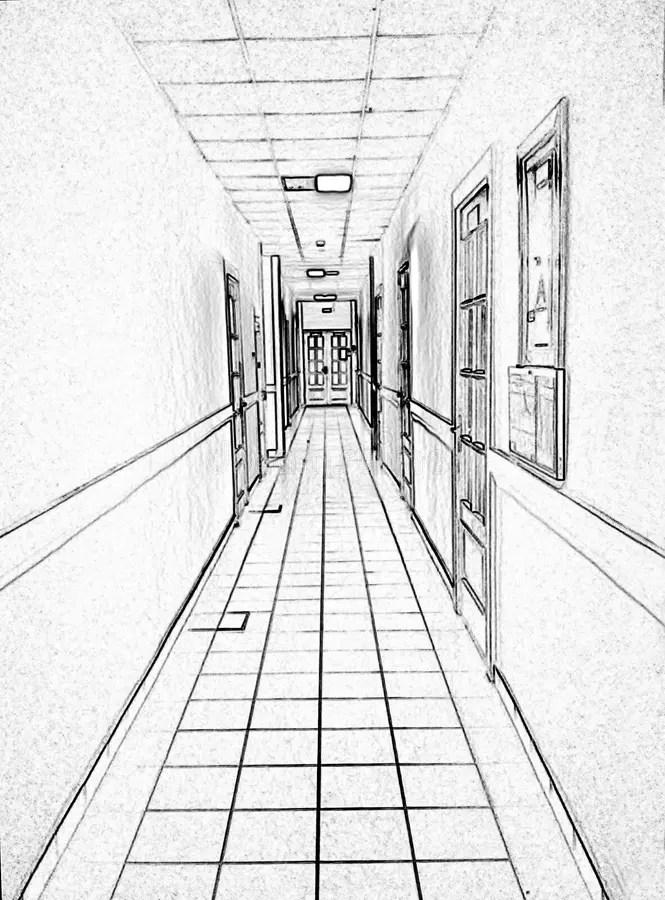 White Doors And Corridor Stock Photo Image Of Indoors
