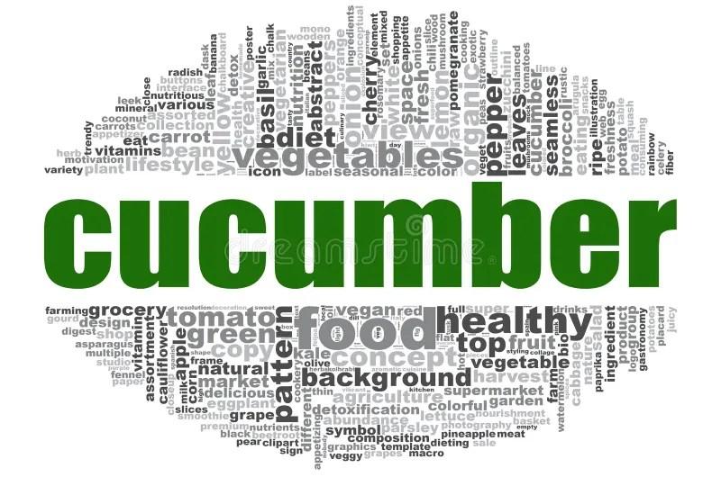 Cucumber Word On Background Illustration Fruit Web