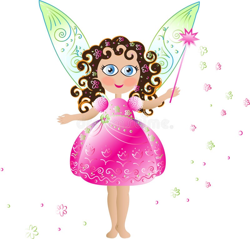 Cute Flower Fairy Stock Vector Image 53879071