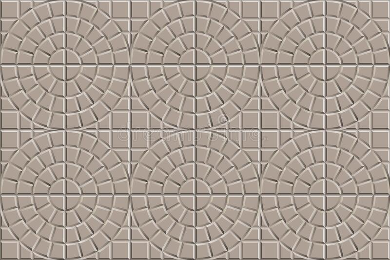 3d seamless texture of circle squared