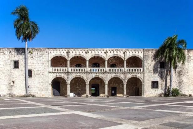 Diego Columbus palace, Santo Domingo. Diego Columbus palace ( alcazar ) in Santo Domingo, Dominican Republic royalty free stock photo