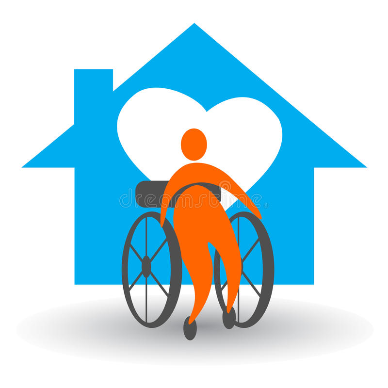 Disabled Home Care Stock Vector Illustration Of Clipart