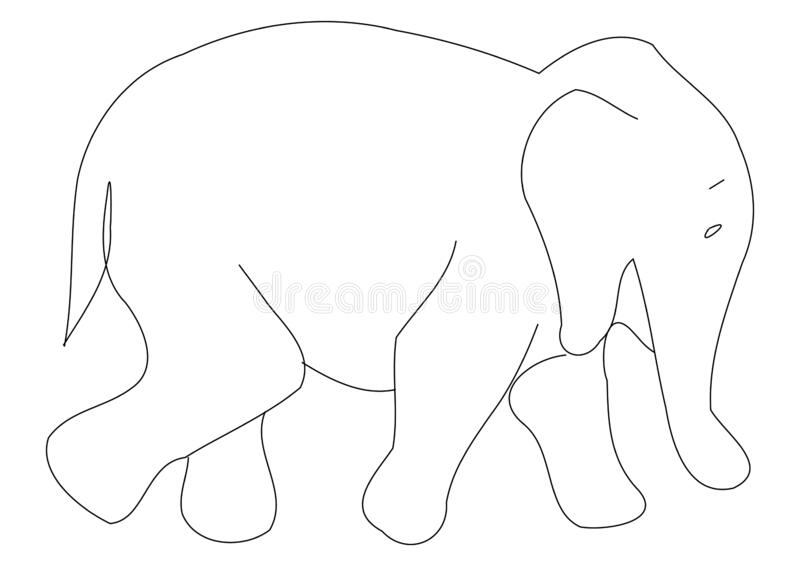 Elephant Outline Stock Illustrations 6 471 Elephant Outline Stock Illustrations Vectors Clipart Dreamstime