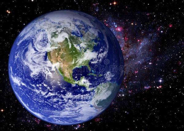 Earth Space Universe Galaxy Stock Image Image of
