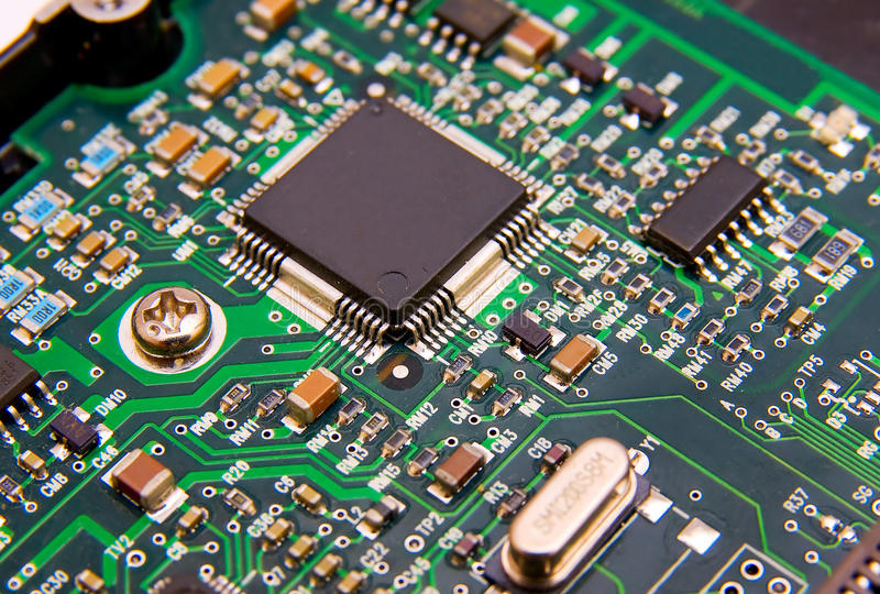 Electronic Circuit Board Stock Photo. Image Of Microchip