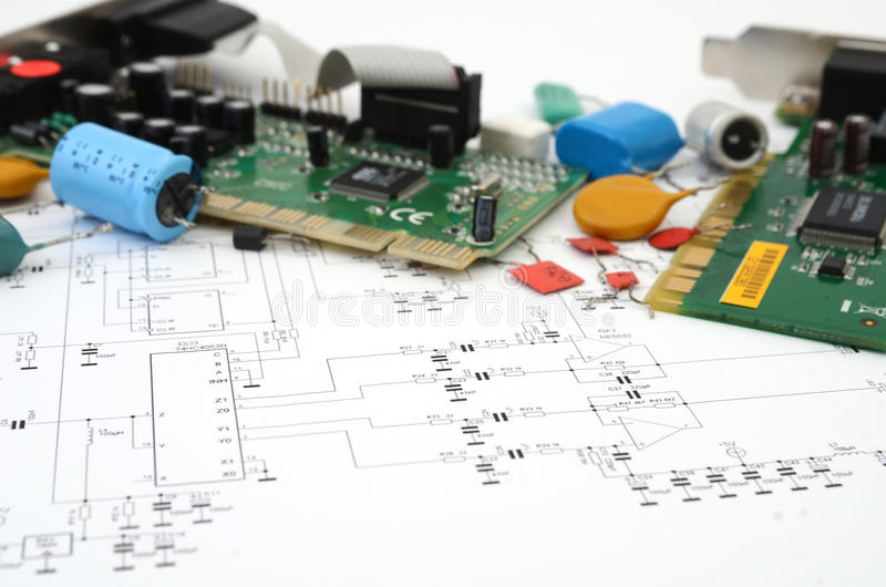 Circuit Board Scheme Stock Photo. Image Of Chip