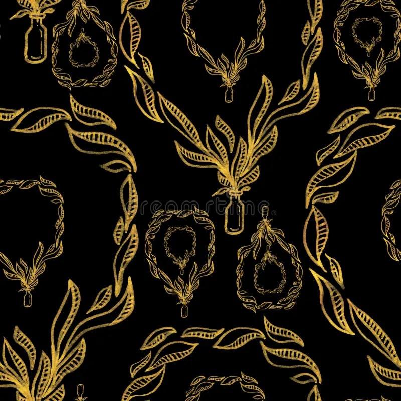 Nello stile inglese non ci si risparmia di abbondare di dettagli, nella consapevolezza che questa ricchezza non andrà a creare stonature o grotteschi scenari.una delle proposte più significative sono le tende di tessuto, come la seta. Elegant Patter Vintage Golden Leaves Grow From A Glass Bottle Gold On Black Hand Draw Iillustration Stock Illustration Illustration Of Decorative Abstract 198205598