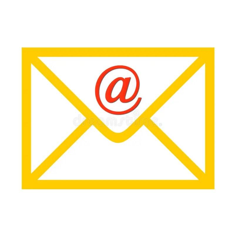 Enveloppe Avec Le Symbole Demail Illustration Stock