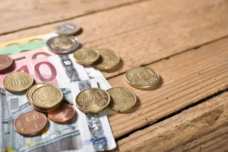 Euros Money Stock Afbeelding Afbeelding Bestaande Uit