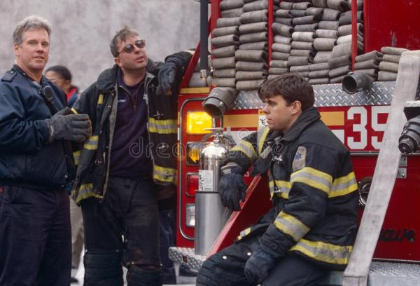 FDNY Firefighters On Duty, New York City, USA Editorial ...