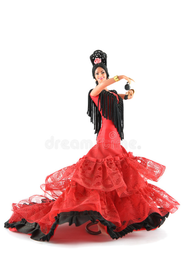 Female Doll From Spain Dancing Stock Image Image of