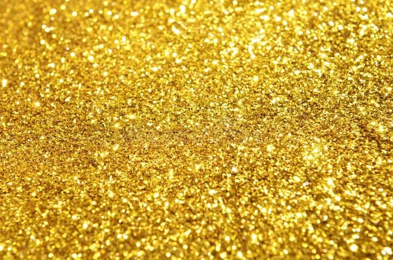 Festive Gold Glitter Background Stock Photo