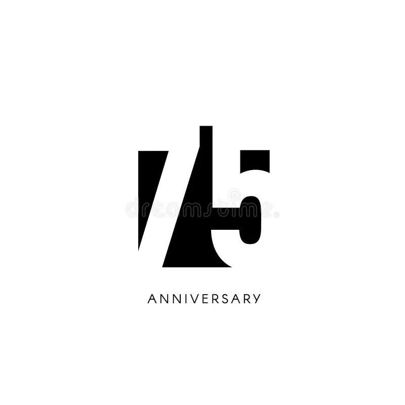 seventy five anniversary minimalistic