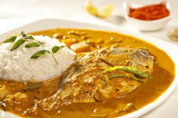 Image result for rice and fish curry