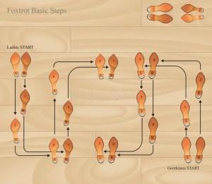 Foxtrot basic steps stock vector Illustration of pattern  20147724