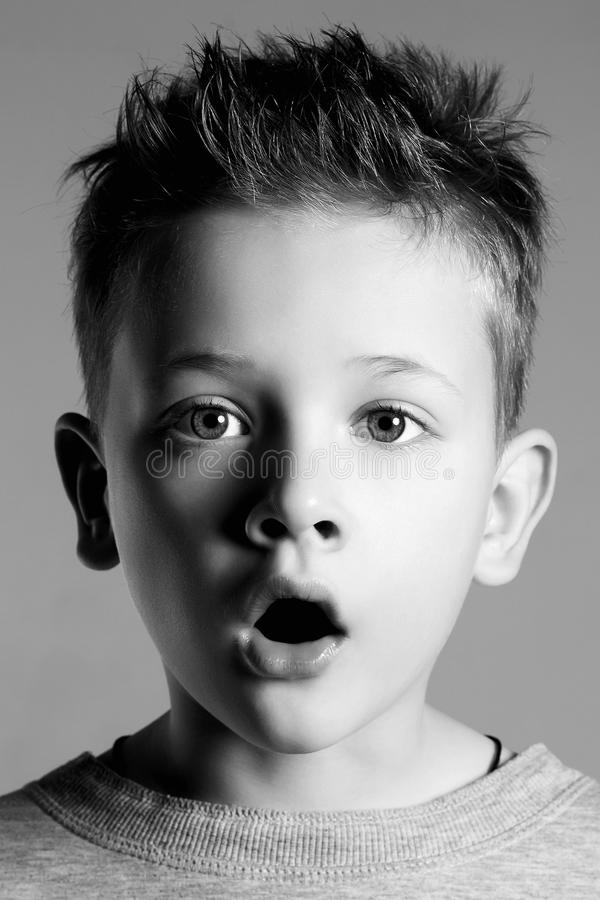 Funny Face Of Kid.handsome Little Boy Stock Photo - Image ...