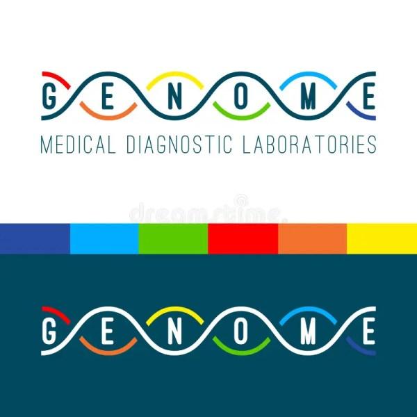 Genome Logo White. Stock Vector - Image: 80348473