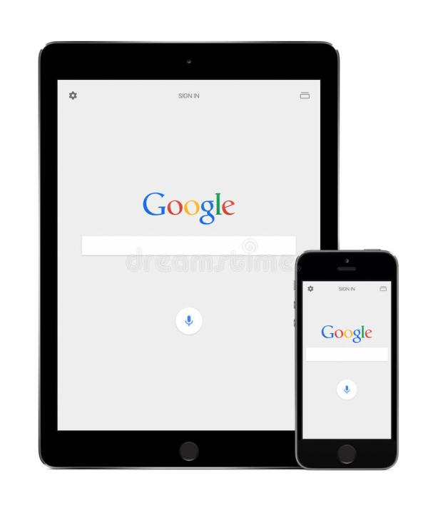 Google Search App On The Apple IPad Air 2 And IPhone 5s
