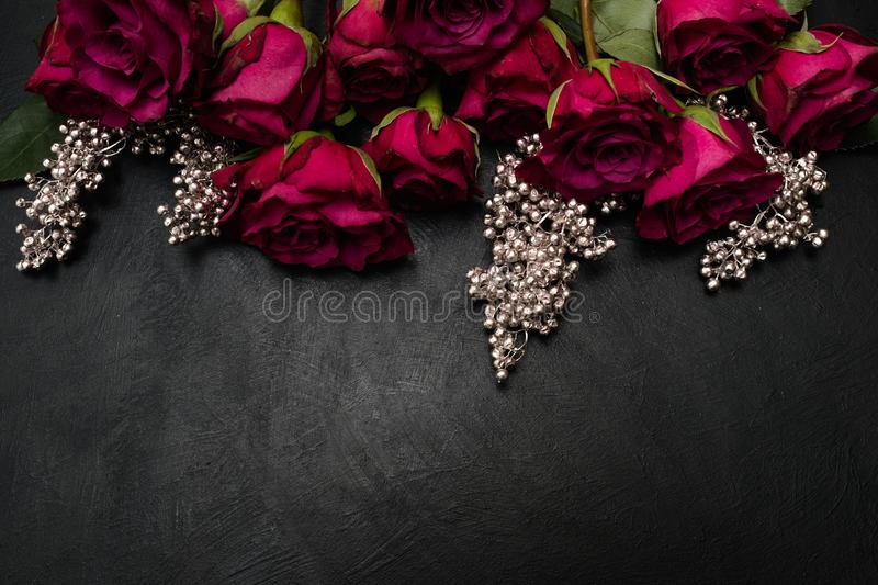 Gothic Wedding Flowers Burgundy Roses Arrangement Stock Photo     Download Gothic Wedding Flowers Burgundy Roses Arrangement Stock Photo    Image of bouquet  burgundy
