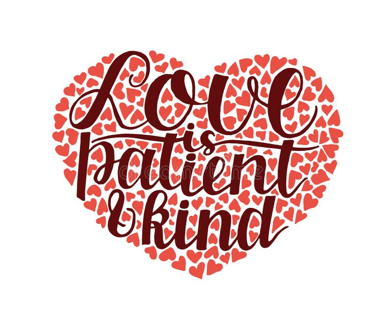 Download Love Is Patient Love Is Kind Stock Illustration ...