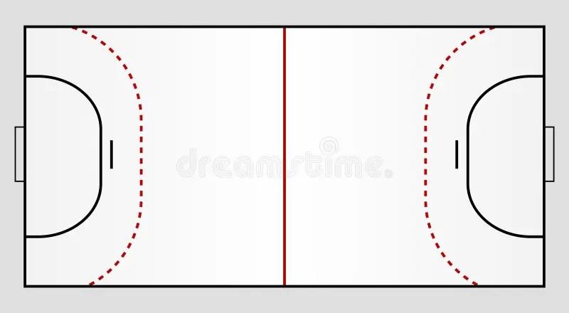 handballboden mit aufschlag ansicht von