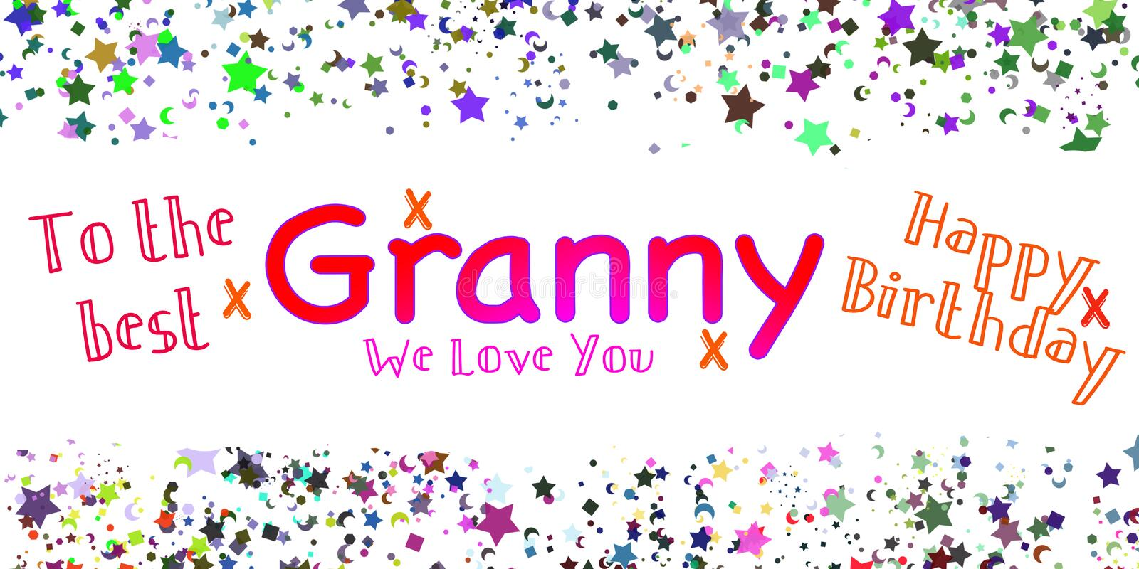 Happy Birthday Granny Stock Illustrations 196 Happy Birthday Granny Stock Illustrations Vectors Clipart Dreamstime