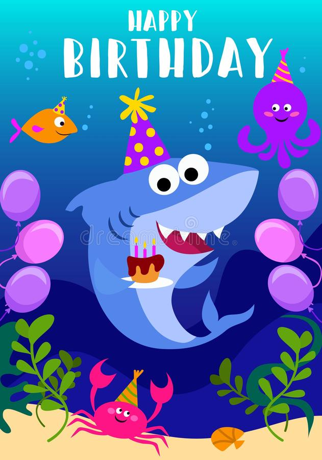 baby shark party invitation cards
