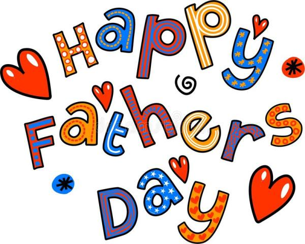 Happy Fathers Day Cartoon Doodle Text Stock Illustration ...