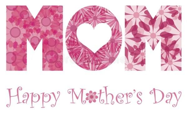 Happy Mothers Day Mom Alphabet Flowers Stock Vector ...