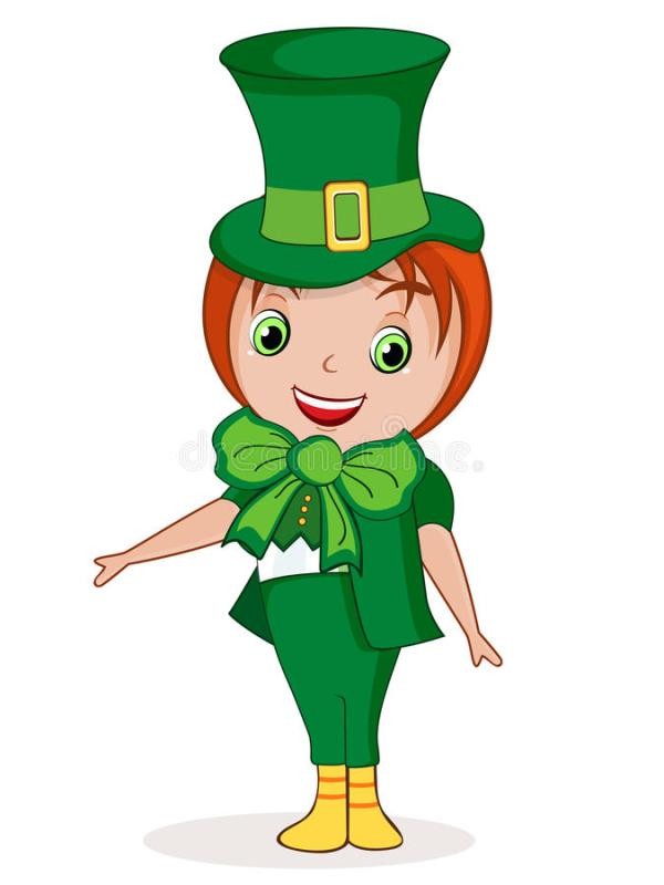 Happy St. Patricks Day Celebration With Cute Girl. Stock ...