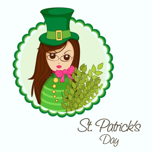 Happy St. Patricks Day Celebration With Leprechaun Girl ...