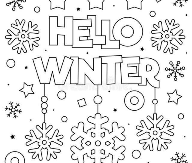 Winter Coloring Page Stock Illustrations  Winter Coloring
