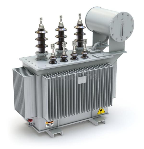 High Voltage Power Transformer Stock Illustration ...