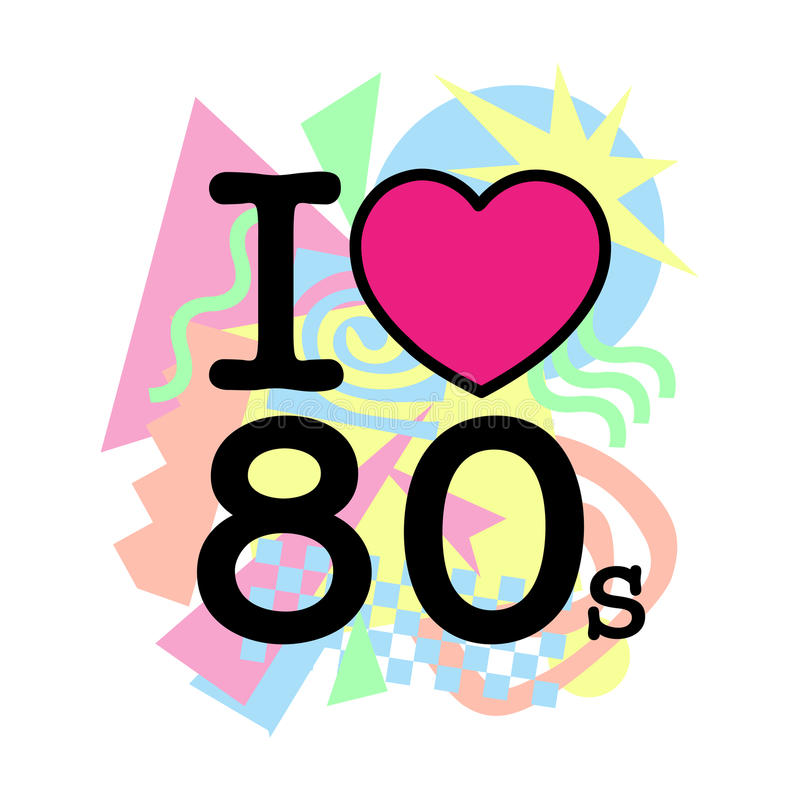 Download I love 80s old style stock vector. Illustration of ...