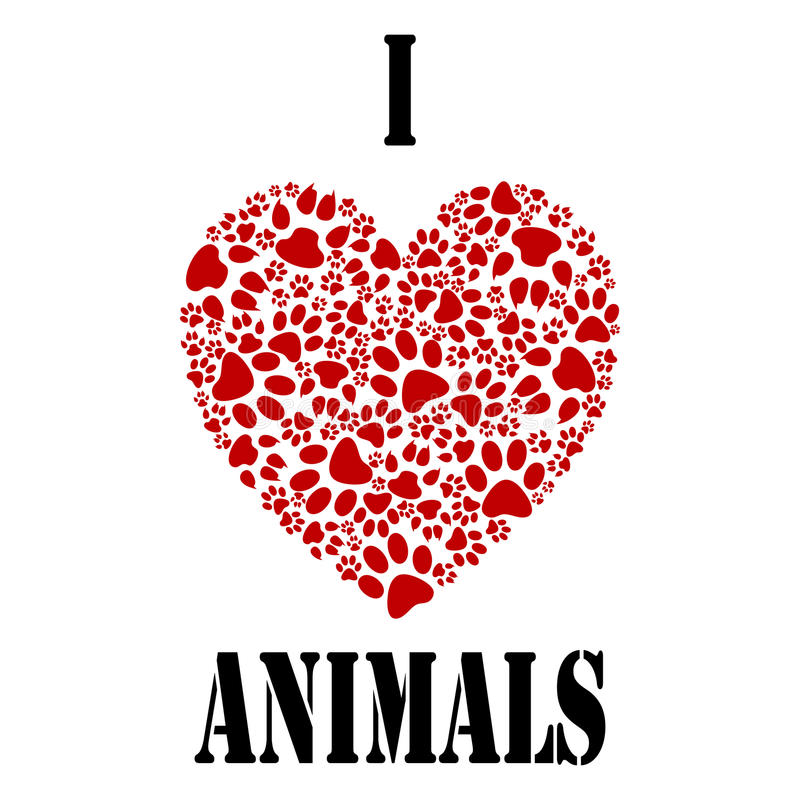 Download I love animals stock vector. Image of romance, baby ...