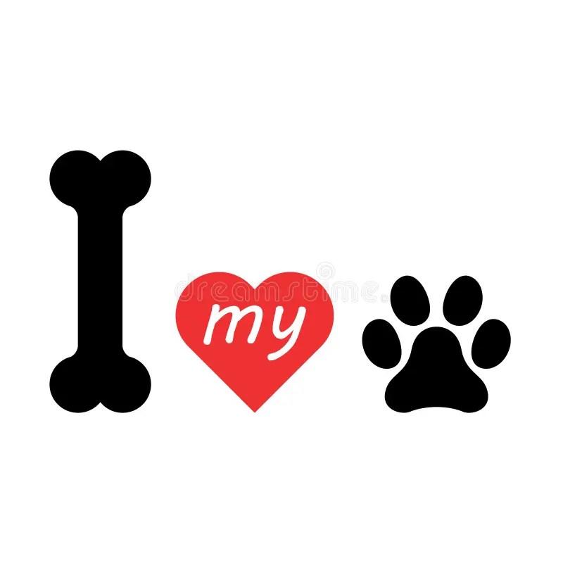 Download I Love Dog Symbol And Cute Dog Stock Illustration ...