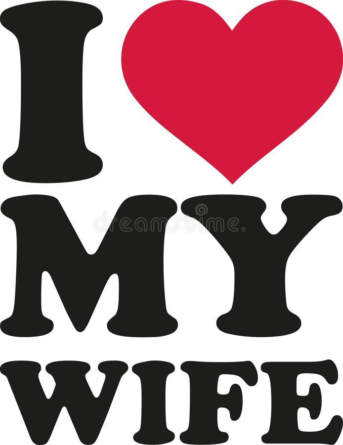 Download I love my husband stock vector. Illustration of ...