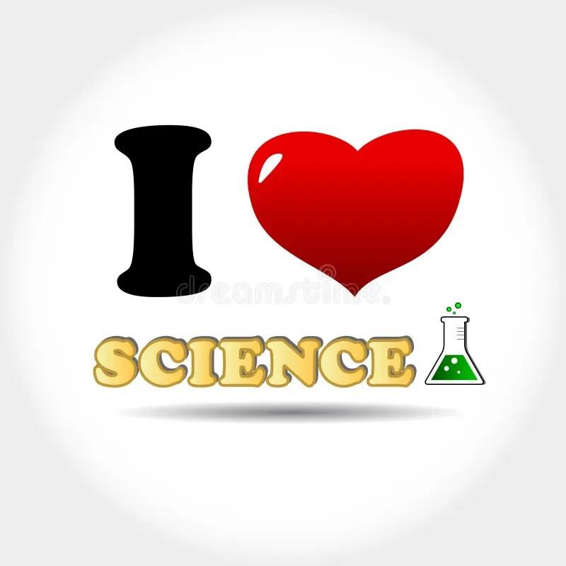 Download I love science stock vector. Illustration of idea ...