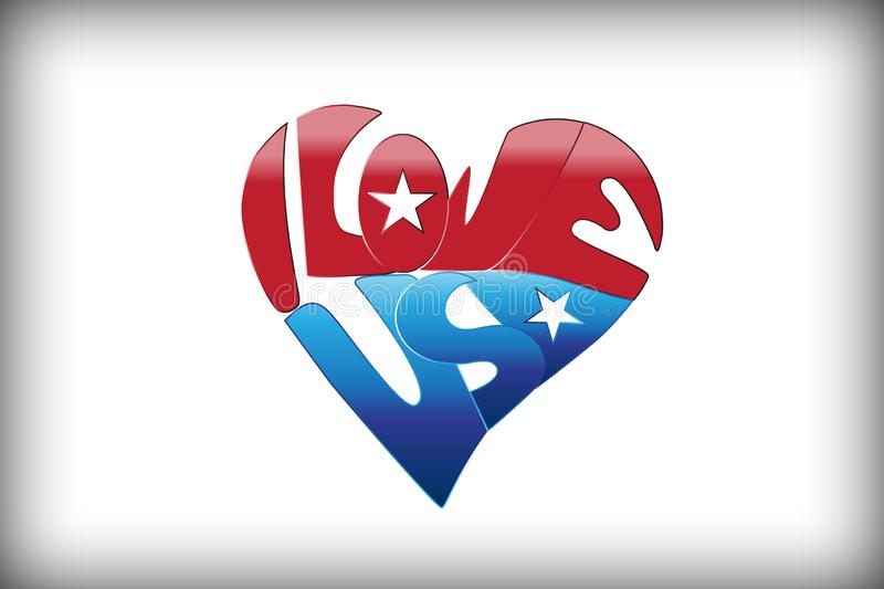 Download Heart USA Flag stock vector. Illustration of computer ...