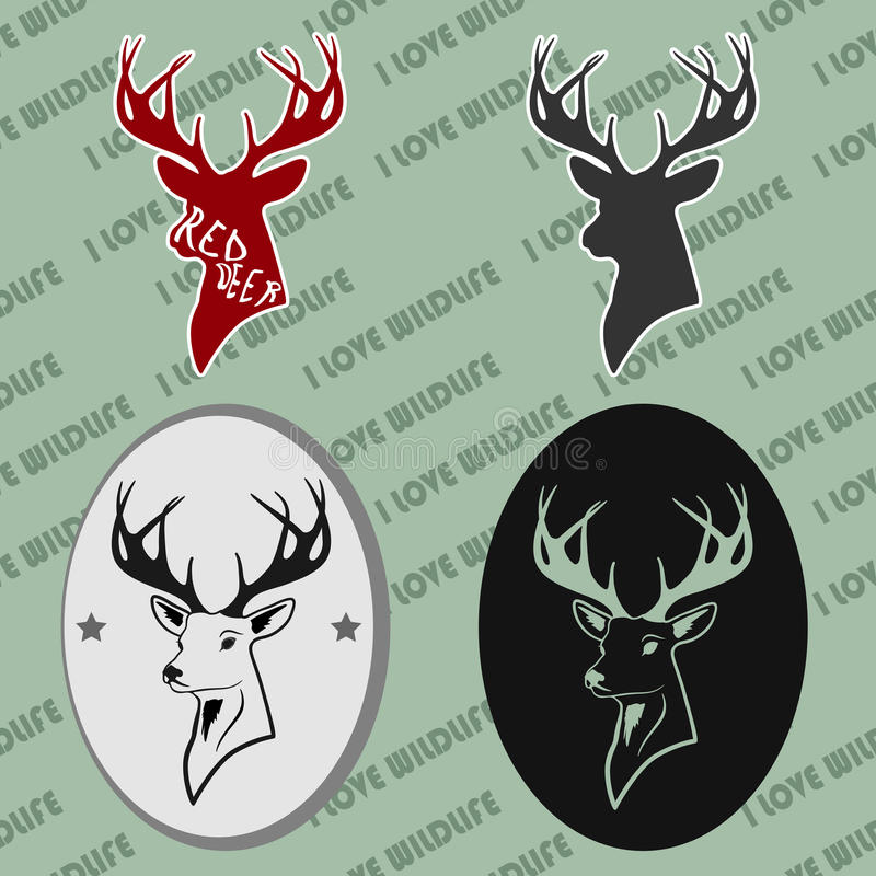 Download Head Of Deer With Antlers Love Stock Vector - Illustration ...