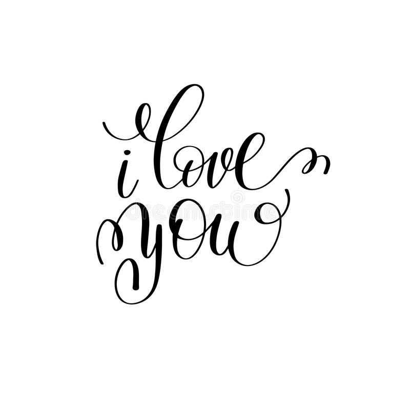Download I Love You Black And White Hand Written Lettering About ...