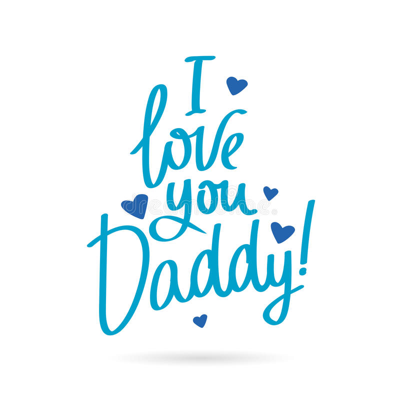 Download I love you Daddy stock vector. Illustration of gift, party ...