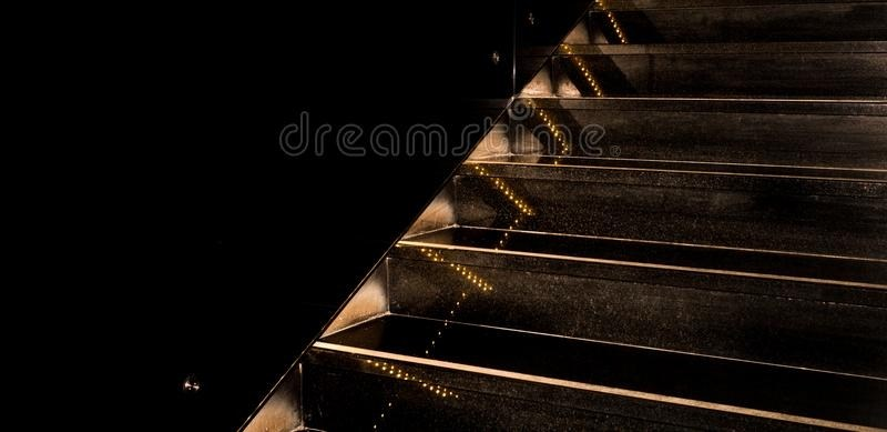 Illuminated Black Granite Staircase Going Upward On Black | Black Granite Staircase Designs | Marble | Polished Granite | Floor Stair Circular | Kota Stone Staircase | Jet Black