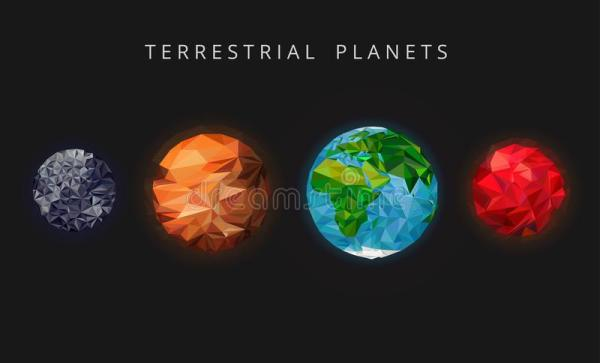 Illustration Terrestrial Planets. The Rocky Planets Of The ...