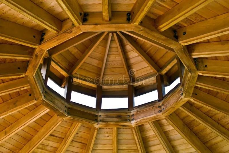 Inside Gazebo Roof Stock Photo Image Of Roof Wood
