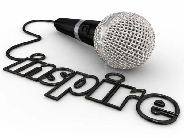 Inspire Microphone Word Cord Motivational Speaker Keynote ...