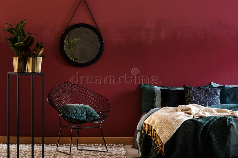 chambre a coucher image stock