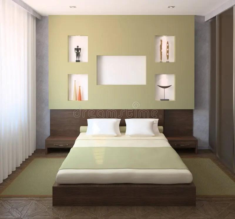 Del marrone scuro o chiaro, a seconda dell'intensità del beige. Interior Of Modern Bedroom Stock Illustration Illustration Of Decoration Design 45832418