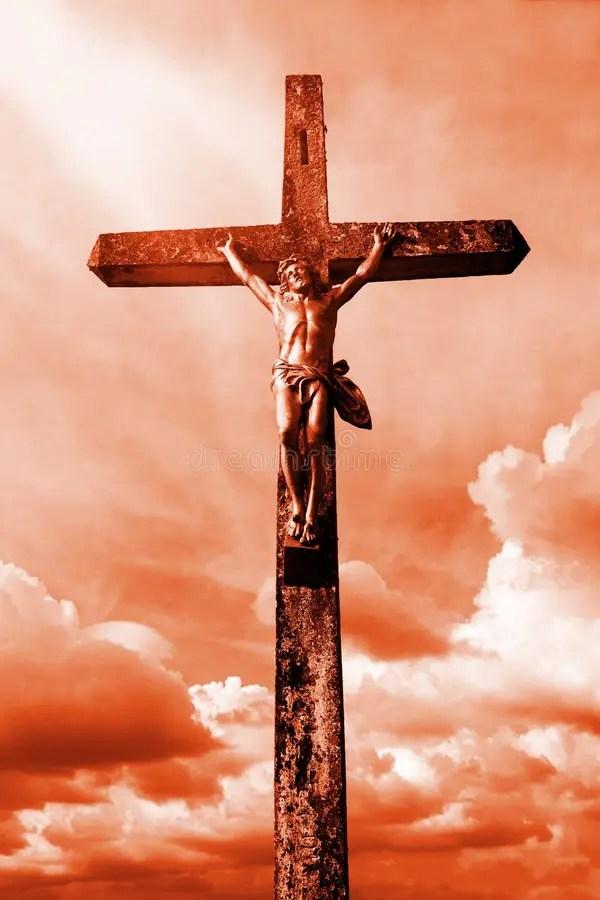 Jesus on the cross stock image. Image of image, beliefs ...
